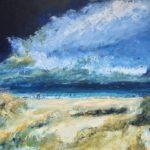 Noordzee Wadden (60x50) acryl op paneel