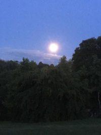Moon over Le Phaux